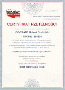 Certyfikat-Rzetelnosci-GO-TRANS-Hubert-Godzinski-[PL]